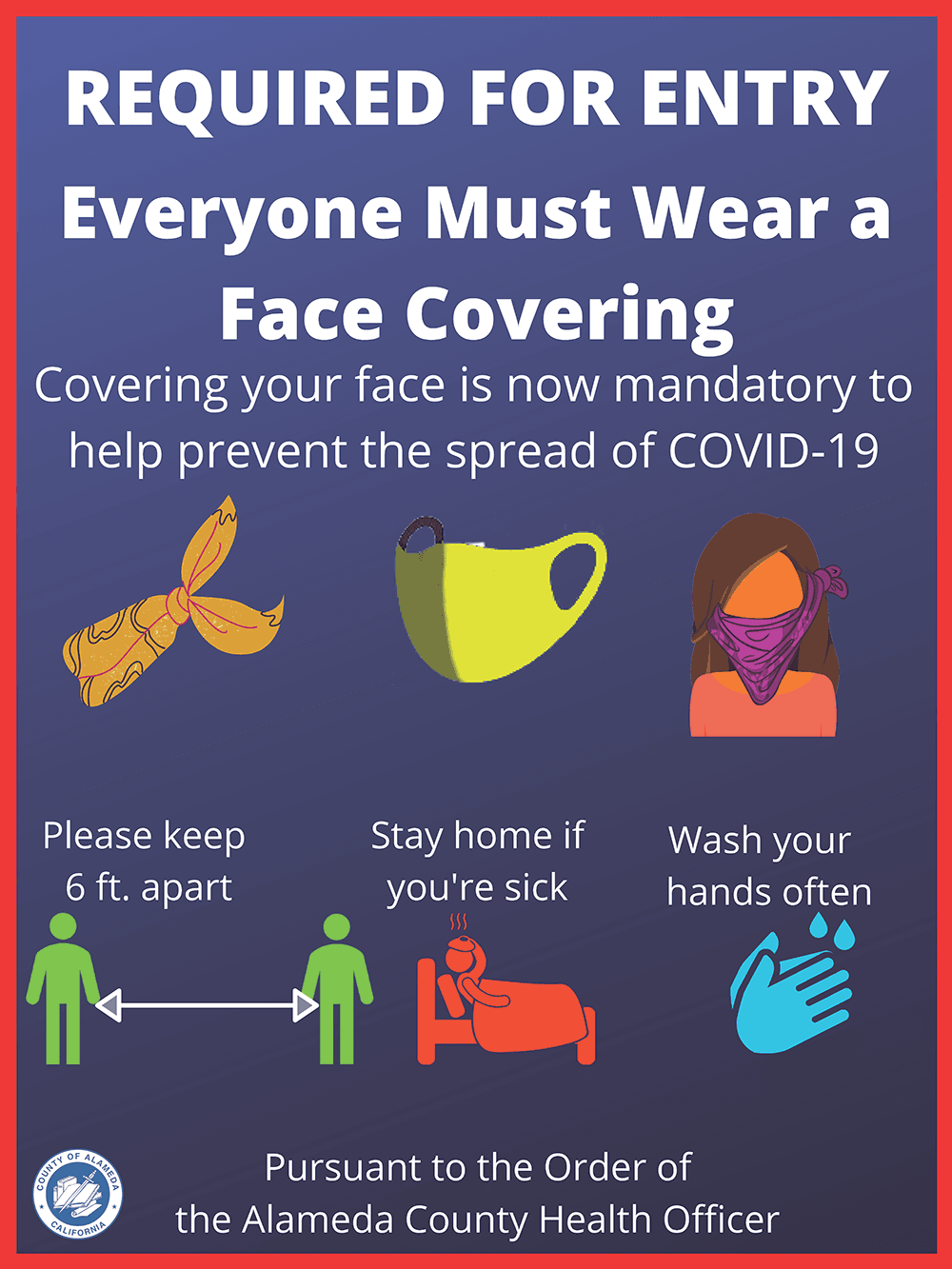 Businesses Required Face Coverings Flyer
