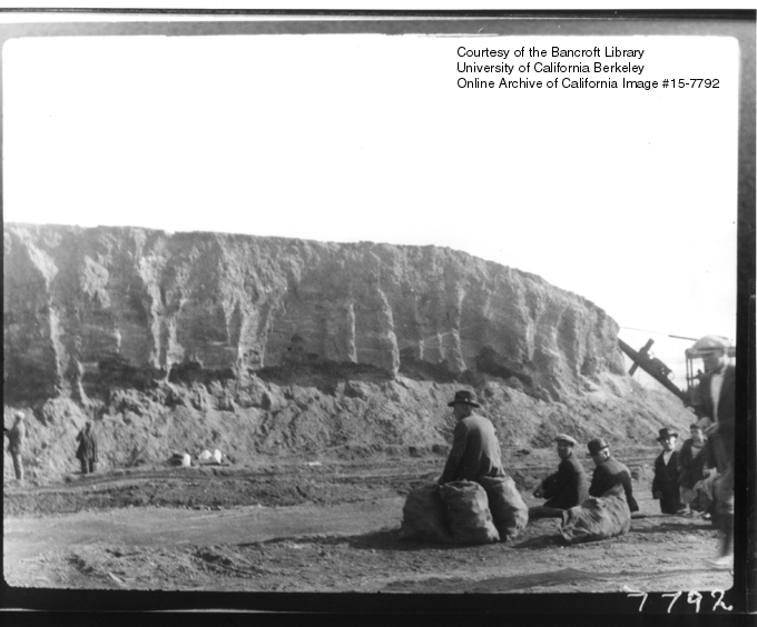 Photo Showing Excavation of the Shellmound in 1926