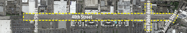 40th and San Pablo Project Area Map